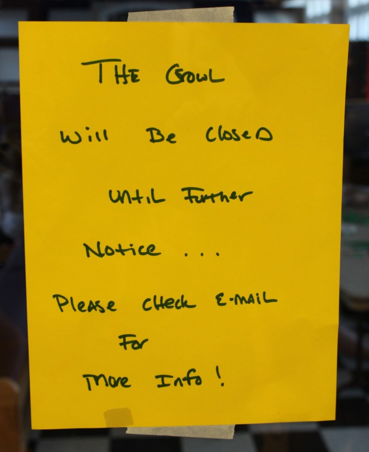 The message posted on the Growl's front door Dec. 11