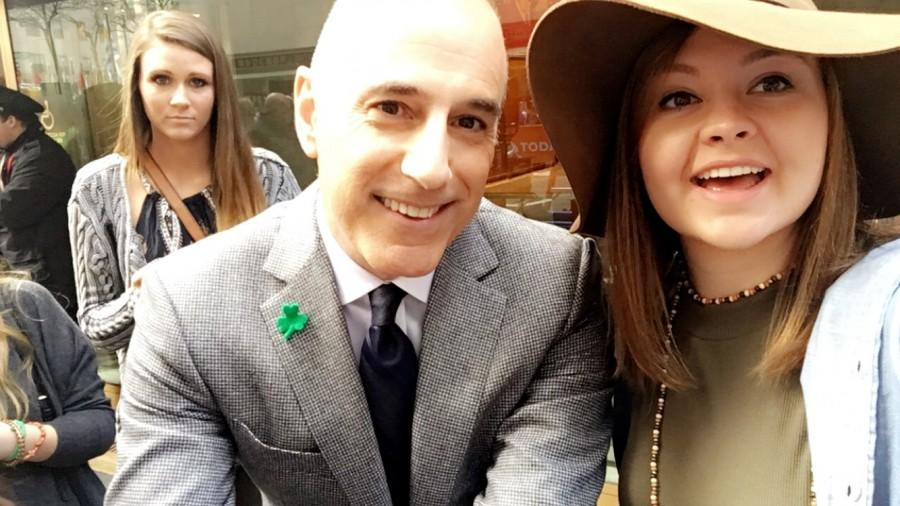 Georgi McCauley takes a selfie with Matt Lauer