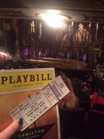 Playbill and ticket at