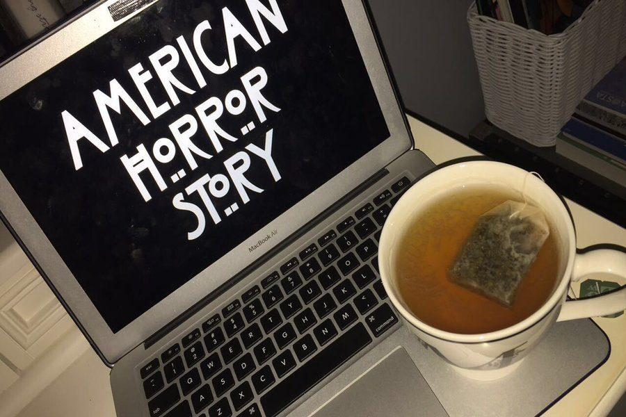 The title screen to the first season, murder house, of American Horror Story.