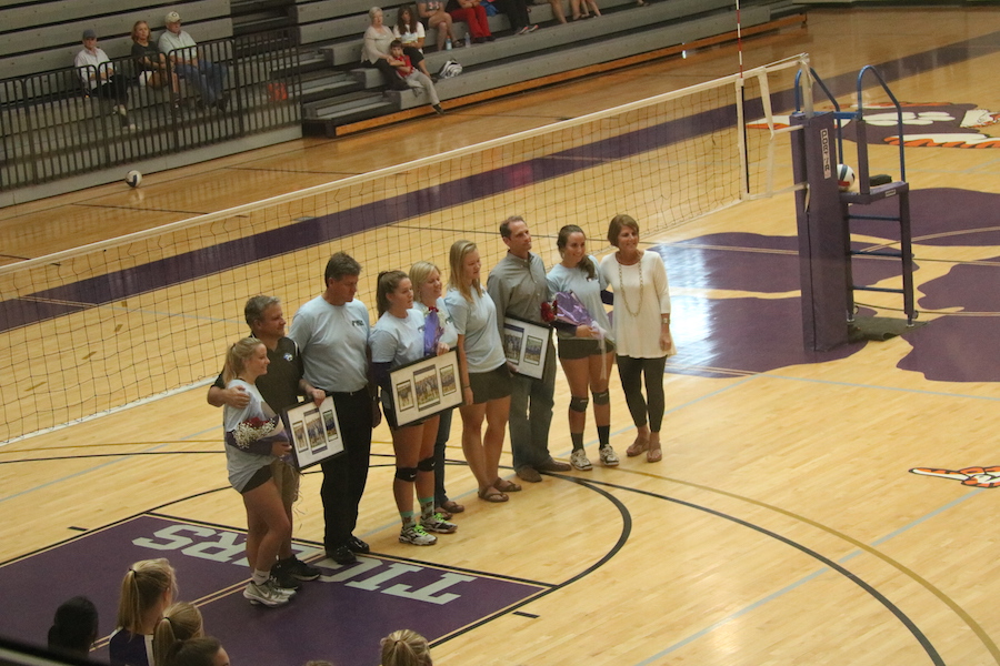 Maffett, LaVangie and Holmes Honored at Volleyball Senior Night