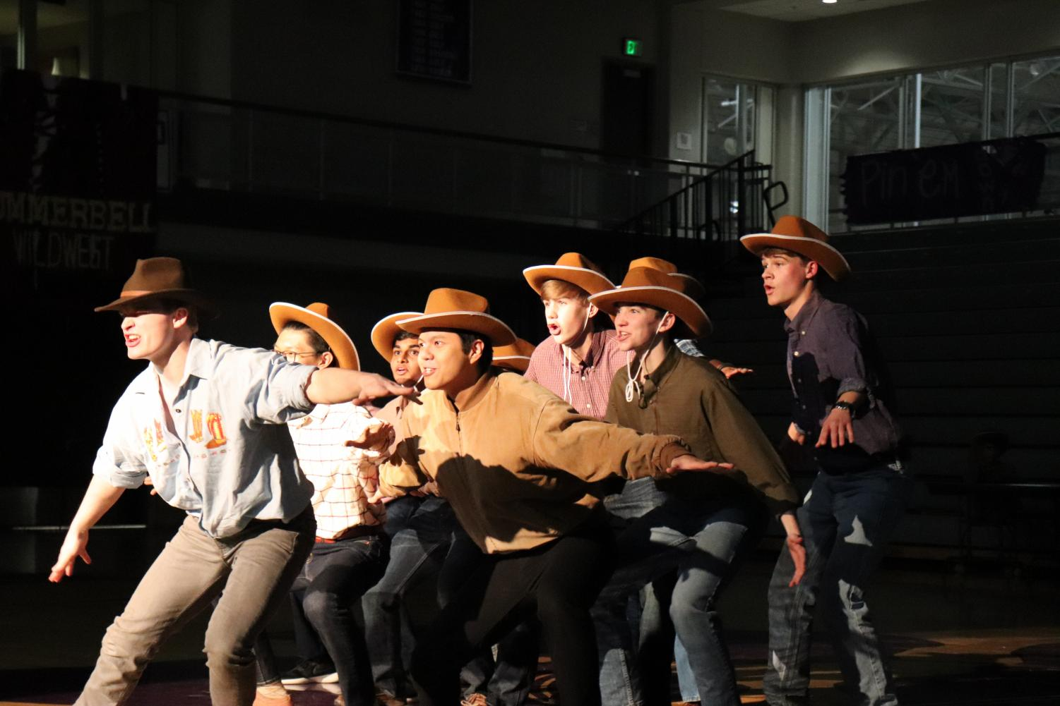 Summerbell+boys+group+together+while+dancing+along+to+their+Wild+West+theme.